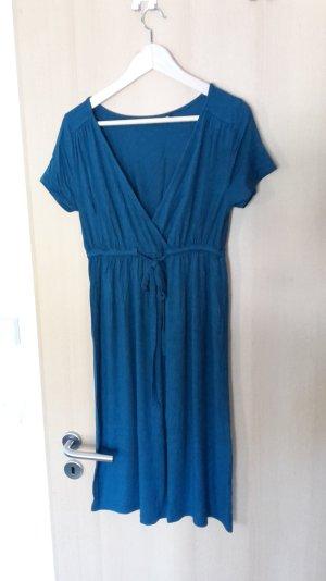 Petrolfarbenes Stretch Kleid 38
