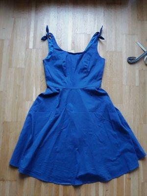 Petticoat Dress blue-neon blue cotton