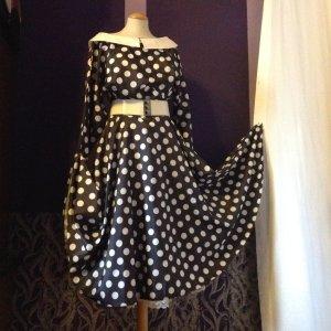 "Petticoat Kleid dots Black white Vintage 38 40 Rückenausschnitt ""Marie France"""
