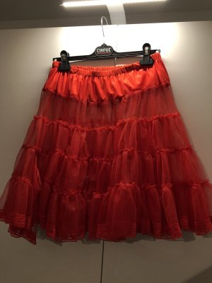 Collectif Flounce Skirt red