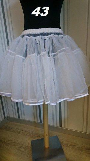 Jupon blanc tissu mixte