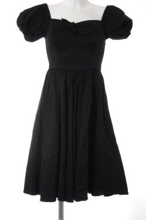 Robe avec jupon noir style rockabilly
