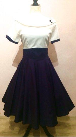 Petticoat Dress white-blue