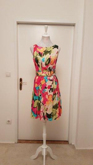 Wallis Robe avec jupon multicolore tissu mixte