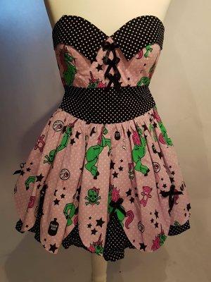 petticot Kleid mit Zombie Einhorn Print