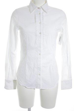 Peuterey Cuello de blusa blanco-rojo estilo «business»