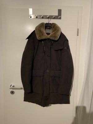 Peuterey Manteau en duvet brun foncé-brun noir