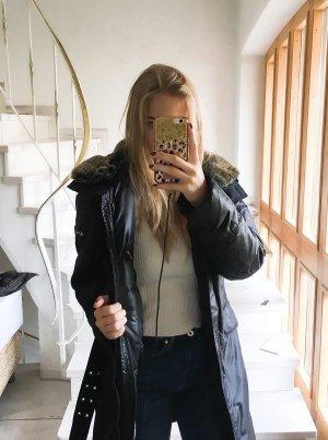 Peuterey Abrigo de plumón negro-marrón