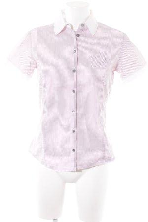 Peuterey T-Shirt blasslila-weiß Streifenmuster sportlicher Stil