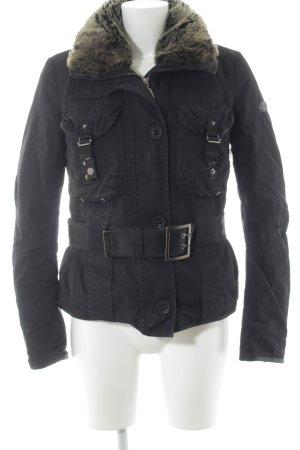 Peuterey Übergangsjacke schwarz Casual-Look