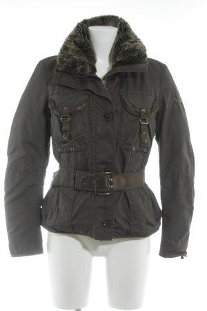 Peuterey Veste d'hiver gris brun style décontracté