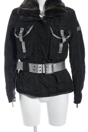 Peuterey Winterjacke schwarz-hellgrau klassischer Stil