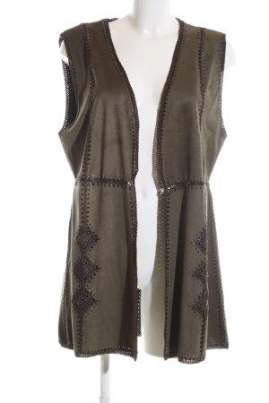 Pfeffinger Cardigan khaki extravaganter Stil