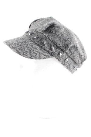 Pfeffinger Flat Cap anthracite-light grey striped pattern street-fashion look