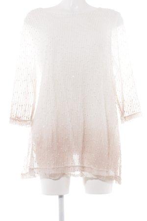 Pfeffinger Pullover all'uncinetto bianco-rosa pallido Colore sfumato