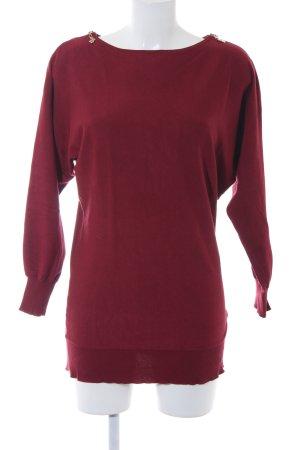 Pfeffinger Oversized Pullover bordeauxrot schlichter Stil