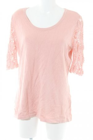Pfeffinger Rundhalspullover rosa Casual-Look