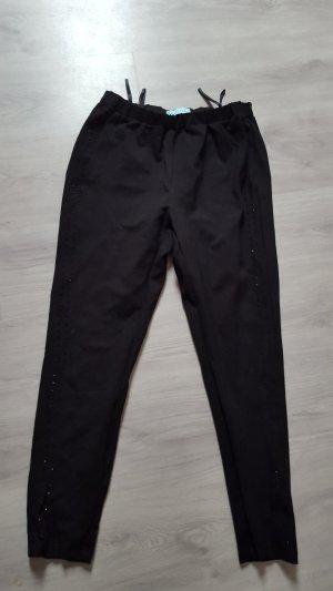 Pfeffinger Schlupfhose Stretchhose mit Strasssteinen schwarz Größe 42