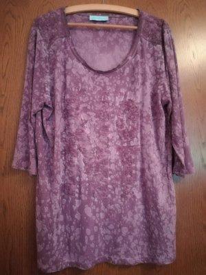 """Pfeffinger"" Shirt in Batik-Look mit Spitzenbesatz, lila-grau, Gr. 46"