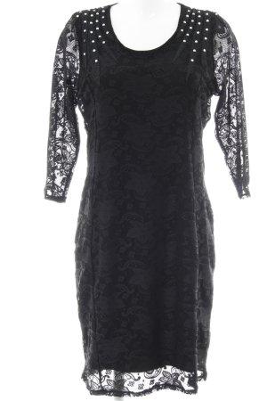 Pfeffinger Spitzenkleid schwarz Elegant
