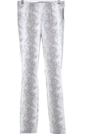 Pfeffinger Stoffhose weiß-graubraun Punktemuster Animal-Look