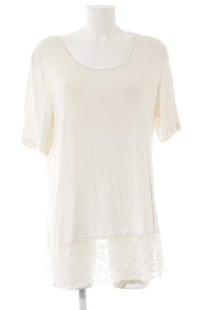 Pfeffinger T-Shirt creme Romantik-Look