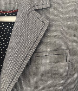 Opus Wool Blazer slate-gray-light grey cotton
