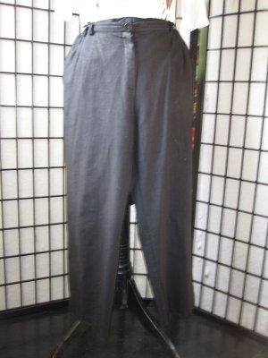 Pantalón de cintura alta negro Lino