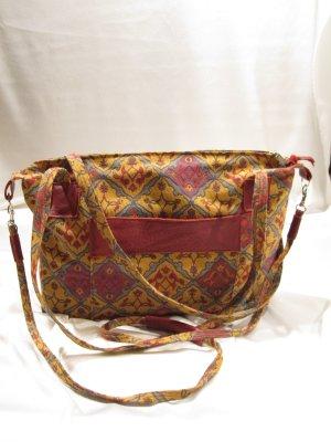 Borsa shopper multicolore Fibra tessile