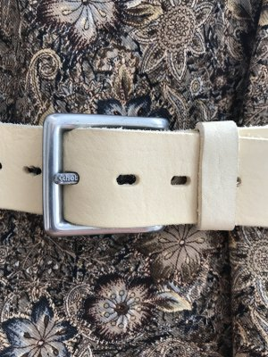 Schott NYC Leather Belt multicolored leather