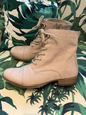 PFINGST-SALE!!! * Tolle Schnürstiefelette aus weichem Velours mit Reißverschluss *  nur 1 mal getragen