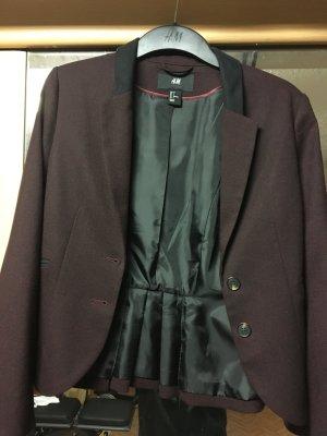 Pfingstsale - Neuwertiger Blazer in Weinrot von H&M - Größe 34