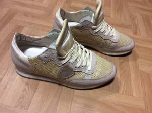 Pfingstsale - Philippe Model Sneaker in Gold-metallic mit feinen Glitzerpartikeln