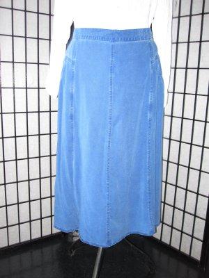 Jupe en jeans bleu fibre textile