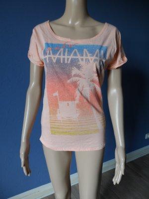 Pfirsichfarbenes, dünnes T-Shirt 'Miami'
