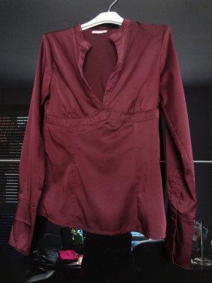 Pflaumenfarbige Bluse
