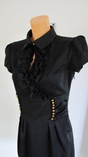 Shirtwaist dress black-gold-colored