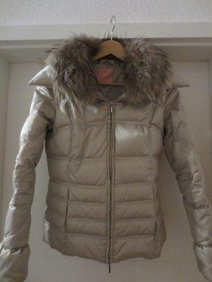 Phard Jacke mit echtem Pelz, Gr. 36/S, Silber-Grau, neuwertig, selten getragen
