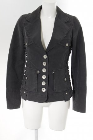 Phard Jeansjacke grau Military-Look