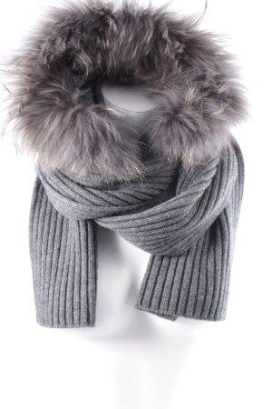 Phard Capuchon sjaal grijs pluizig