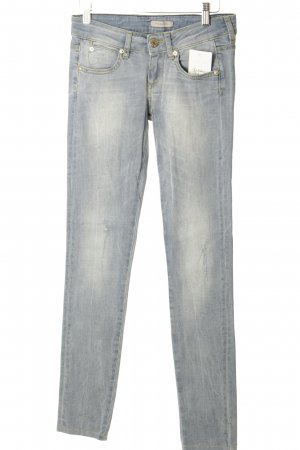 Phard Skinny Jeans himmelblau-wollweiß Used-Optik
