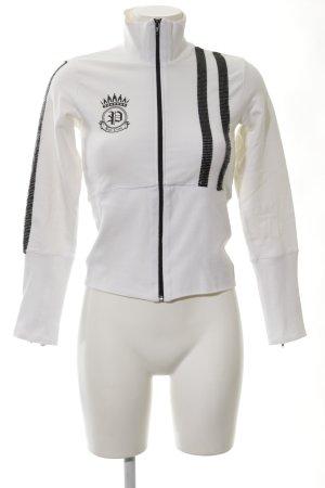 Phard Sweat Jacket white themed print wet-look