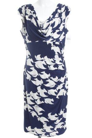 Phase eight Jerseykleid dunkelblau-wollweiß klassischer Stil