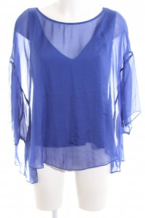 Phase eight Kurzarm-Bluse blau Elegant