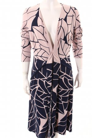 Phase eight Mantelkleid rosé-dunkelblau abstraktes Muster Romantik-Look