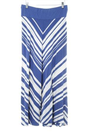 Phase eight Maxi Skirt white-dark blue striped pattern beach look