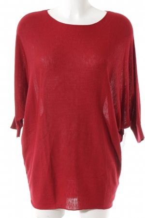 Phase eight Jersey holgados rojo oscuro look casual