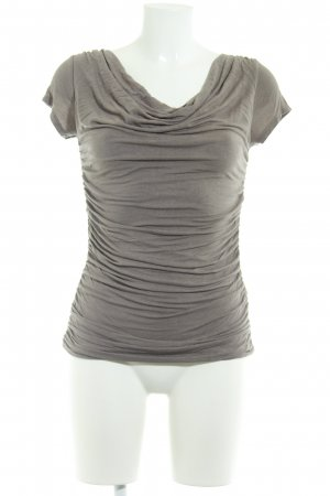 Phase eight Cowl-Neck Shirt grey brown casual look