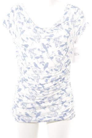 Phase eight Cowl-Neck Shirt white-azure animal pattern casual look