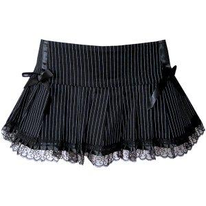 PHAZE Pinstripe Gothic Mini Rock Schleifen black/white – XS/S